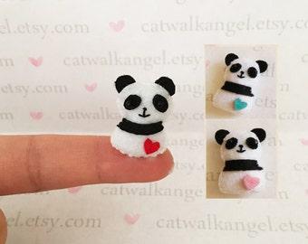 Felt Miniature - Felted Miniature Panda - Felted Panda - panda miniature - tiny panda - Miniature Panda