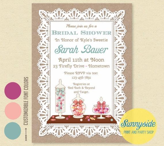 Love is sweet invitation candy bridal shower invitation il570xn filmwisefo