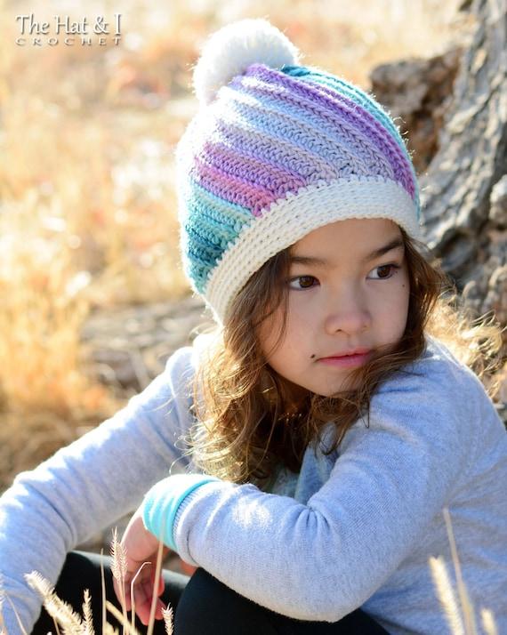 CROCHET PATTERN - Twist Top Beanie - crochet hat pattern, crochet beanie pattern (Baby, Toddler, Child, Adult sizes) - Instant PDF Download