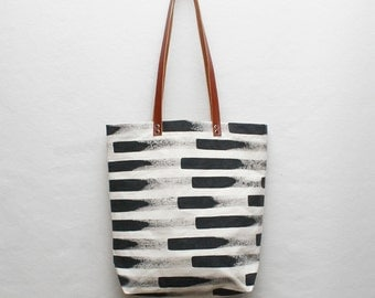 Tall Painted Stripe Tote Bag