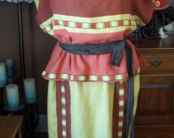 Custom Roman Peplos (Lady's Dress) - Double Layered/Folded