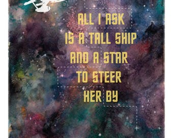 Star Trek 12x18 Illustration Print
