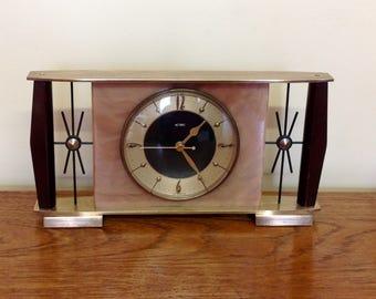Vintage Metamec Shelf Clock - Recycled Mantel Shelf -1970s Clock