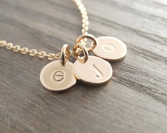 Gold Initial Necklace gold monogram necklace gold necklace  gold necklace initial necklace gold Custom Initial Jewlery