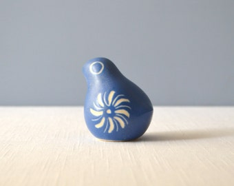 Vintage Strawberry Hill Pottery Blue and White Bird Figurine