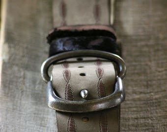 Simple Fly Chic Leather Belt, Women's Leather Belt, Genuine Leather Belt, Boho Leather Belt, Taupe Belt, Gray Belt, Handmade Leather Belt
