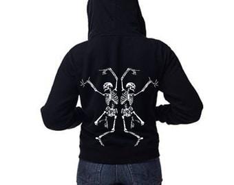 Skeleton hoodie | Etsy