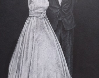 """9""""x12"""" Dress and Tux Drawing"""