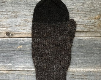 Icelandic Lopi Mittens - Men/Women - Handspun Undyed 100% - Medium - Hand Knit