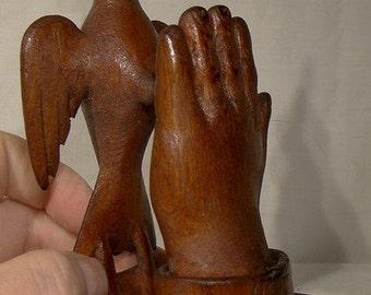 Canadian World War I Folk Art Wood Carving - Dove of Peace