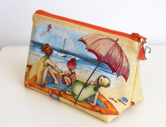 Beach Babes Cosmetic Bag Jewelry Pouch