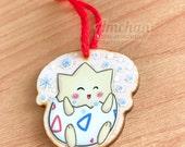 Pikachu Togepi Mew Fouinar ou Evoli - Décorations / porte-clés Pokemon en bois