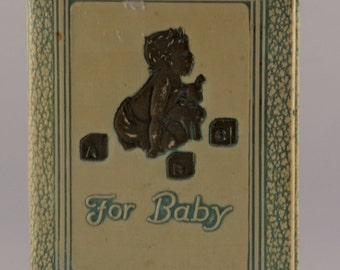 Vintage Baby Bank from Greeneville Bank/Antique Baby Bank/National Baby Bank/Book Bank