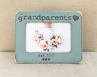grandparents gift grandparents picture frame fathers day mothers day personalized picture frame from grandchild flowers in december ds