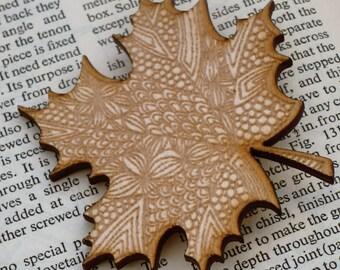Maple Leaf Brooch - Made in Norfolk - Maple Tree - Leaf Brooch