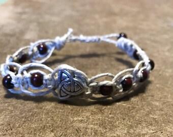 Celtic Knot Hemp Knotted Adjustable Bracelet