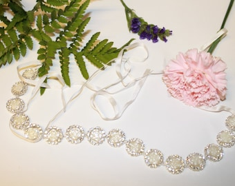 Crystal Bridal Sash | Rhinestone Bridal Belt | Wedding Sash Belt , Flower bridal sash, Bridesmaid sash