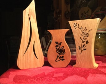 Decorative Wood Vases