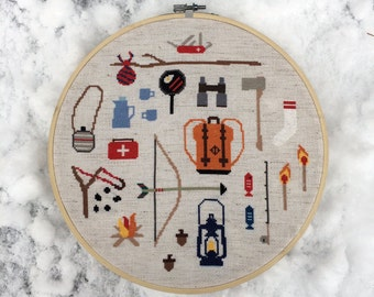 Adventure - Modern cross stitch pattern PDF - Instant download