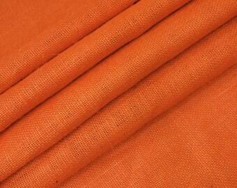 "Orange Jute Fabric, Orange Burlap, Natural Fabric, Sewing Craft, Home Accessories,  48"" Inch Wide Jute Fabric By The Yard ZJC1C"