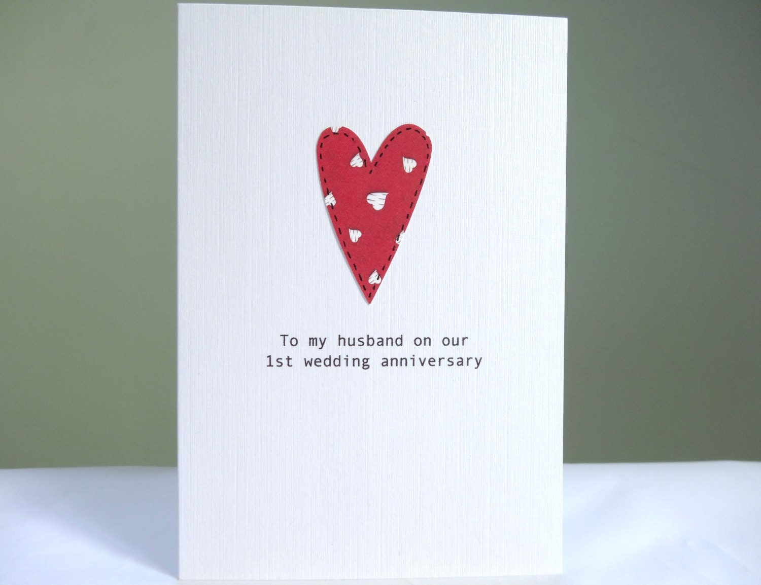 1st Anniversary Card Personalised Wedding