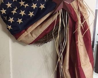 """18"""" - 20"""" Flag wreath"""