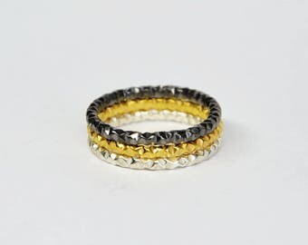 silver stacking rings, stackable rings, silver stack rings, unique stacking rings, stack rings, stackable rings,gold stackable rings