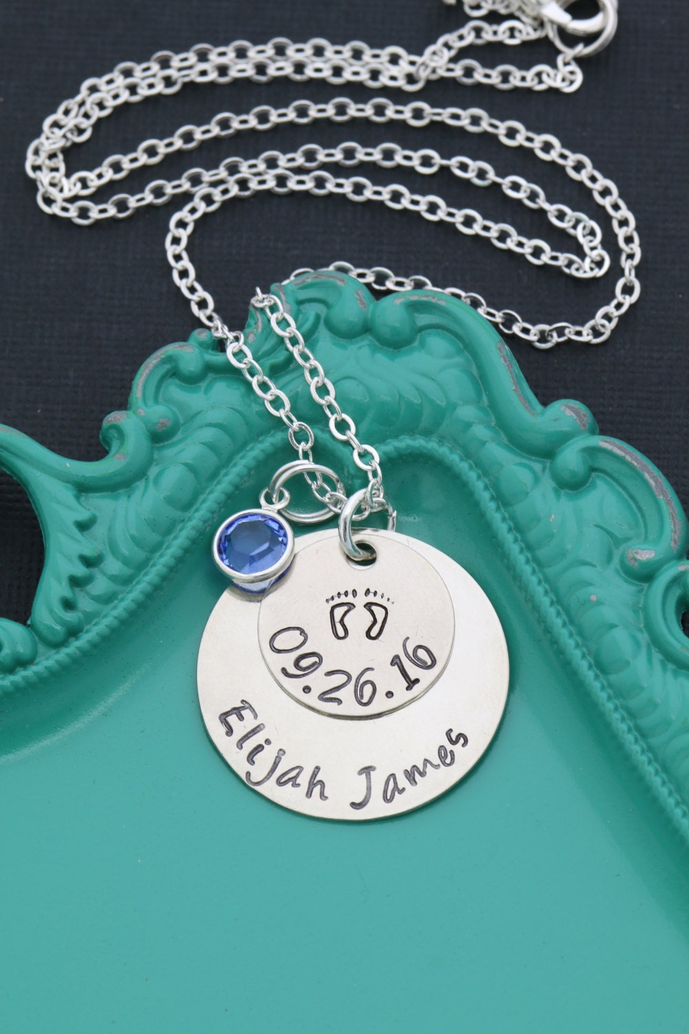 Free Ship New Mom Gift Personalized Mother Necklace Baby