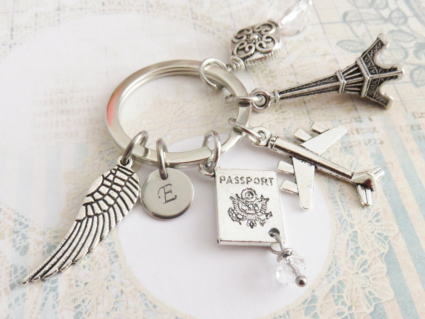 airplane keychain personalized travel keychains gift for traveler