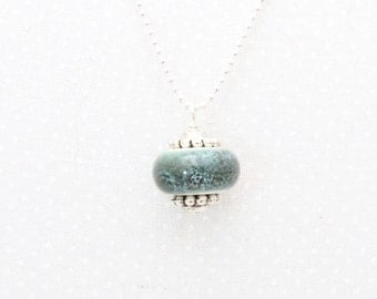 Drop Ceramic Bead Pendant, layering necklace, layered pendant, gift, classic, simplistic