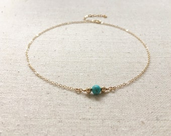 Gold Beaded Pearl Choker, Modern Turquoise and Gold Choker, Silver Pearl Choker Beaded Choker, Wedding Jewelry, Turquoise and Silver Choker