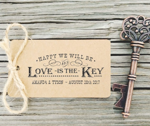 key bottle openers tag rubber stamp love is the key rustic. Black Bedroom Furniture Sets. Home Design Ideas