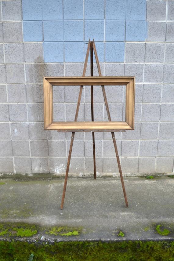 vintage art easel, anco bilt, wooden floor easel, painting easel