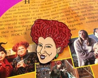 Winifred Sanderson  - Soft Enamel Pin - Hocus Pocus - Witch - Halloween - 90's Nostalgia
