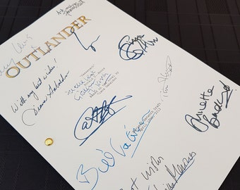 Outlander TV Script with Signatures/Autographs Reprint Pilot