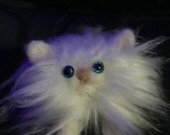 kitten minature creature, fluffy companion,  needle felted cat