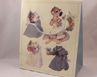 Two (2) Vintage 1992 Shackman Marylou Bushytail Gift Bags by Kathy Lawrence.