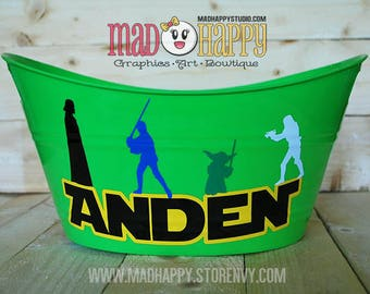Personalized Wide Easter Bin - ANY Design Birthday Easter