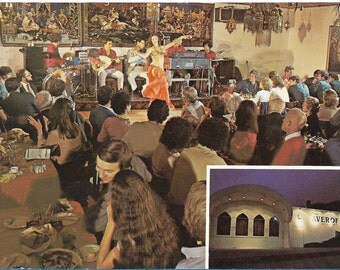 Vintage Kitsch Colourful 1970s Postcard of a Belly Dancing Show in Boston, Mass