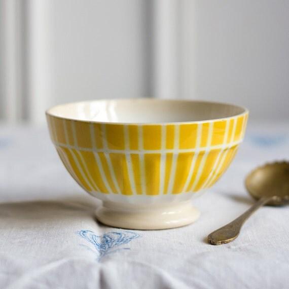 Petit Sunny Striped Café au Lait Bowl