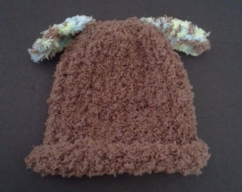 Baby boy Hat Size 0-3 Months, Infant hat, Newborn Hat, nb puppy hat, soft brown baby hat, Baby Gift, nb boy photo prop, baby hat, puppy hat