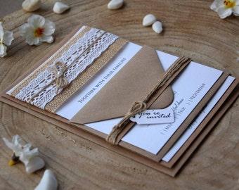 Unique Burlap Lace Wedding Related Items Etsy