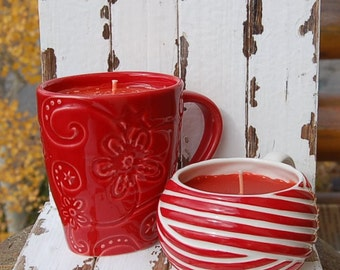 Starbucks Christmas Mugs Candle Hand Poured Caramel Apple