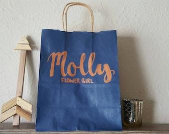Bridal Party Title Gift Bag, Personalized Gift Bag, Custom Gift Bag, Wedding Favor Gift Bag, Bachelorette Party Gift Bag, Craft Paper Bag
