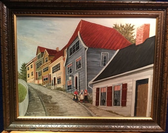 Original Painting of Old Bergen, Norway