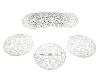 10 prints Fleur de Lys 48x46mm silver Platinum