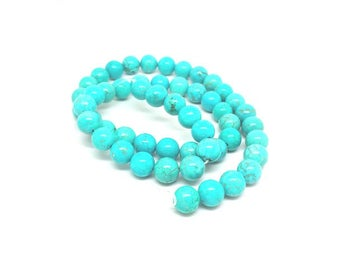 48 round Turquoise beads natural 8mm