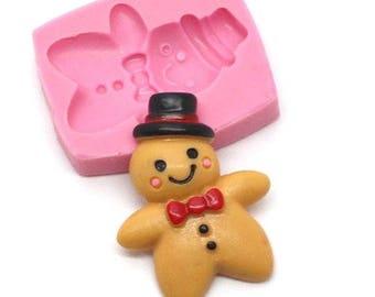 Mold silicone Miniature gingerbread man