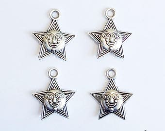 10 star face charms aztec - SCS122