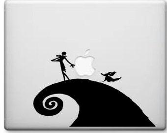 Jack Skellington Inspired Decal- Jack Skellington  Sticker Nightmare Before Christmas Decal for Laptop MacBook